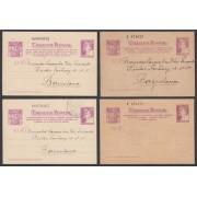España Enteros Postales ( tarjeta ) 77/80 1938 Matrona Nuevos y Circulados