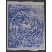 Ecuador 1a 1865 - 1872 Escudo de Armas Variedad de color MH