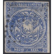 Ecuador 1 1865 - 1872 Escudo de Armas usado