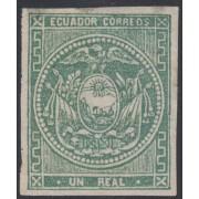 Ecuador 2 1865 - 1872 Escudo de Armas MNH