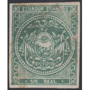 Ecuador 2 1865 - 1872 Escudo de Armas MH