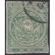 Ecuador 2 1865 - 1872 Escudo de Armas Usado