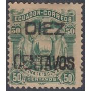Ecuador 14 1883 Escudo de Armas Sobrecargado MH