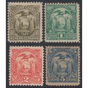 Ecuador 15/18 1887 Escudo de Armas MH