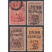 Ecuador 61A + 62A + 63A + 64A 1896 Fiscales Mh y usados