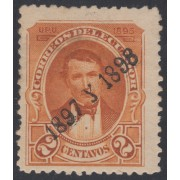 Ecuador 102 1897 1898 UPU Sobrecargado MH