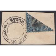 Ecuador 183 1911 - 1915 Bisectado sobre fragmento matasello Tulcan MH