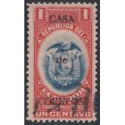 Ecuador 200 1920 Patriótico sobrecargado Usado
