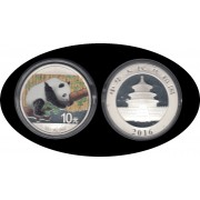 China 1 OZ onza de plata 2016 Oso Panda Sylver Ag Color