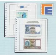 Edifil Hojas Billetes en euros, emitidos 2012 - 2017  paises de la UE