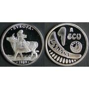 España Spain Monedas Ecus Comunidad Económica Europea 1989 1 ecu plata