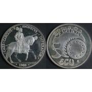 España Spain Monedas Ecus Carlos V 1989 5 ecus plata