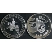 España Spain Monedas Comunidad Económica Europea 1990 5 ecus plata