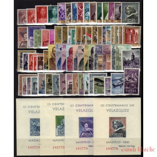 España Spain Año Completo Year Complete 1961 MNH