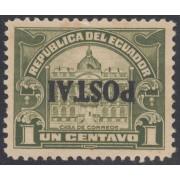 Ecuador 247a Variedad Variety sobrecarga invertida POSTAI 1920 - 1924 MH
