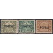 Ecuador 247b + 248b + 249a Variedad Variety POSTAI 1920 - 1924 MH