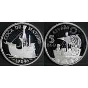 España Spain Monedas Marina Española. España 1996 Coca de Mataró 5 ecus plata