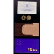 España Spain Monedas Columnas de Hércules 1989 10 ecus oro