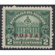Ecuador 283 1929 Postal Casa de Correos MH