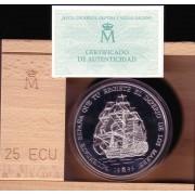 España Spain Monedas Serie Marina Española 1996 25 Ecus plata