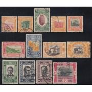 Ecuador 285/97 1930 Tabaco Tobacco cacao Sucre Bolivar Usados
