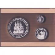 España Spain Monedas Homenaje a la Marina Española 1996 Colección completa plata