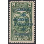 Ecuador 302a 1934 fiscales Variedad Variety doble sobrecarga invertida