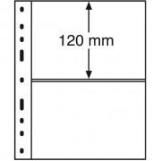 Leuchtturm, Hojas de plástico OPTIMA, 2 divisiones, negro