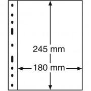 Leuchtturm, Hojas de plástico OPTIMA, 1 división, negro