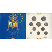 España Spain Cartera Oficial Set Pesetas 1992 Juan Carlos I FNMT