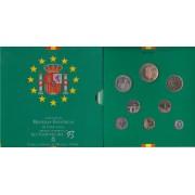 España Spain Cartera Oficial  Set Pesetas 1993 Juan Carlos I FNMT