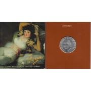 España Spain Cartera Oficial 1996 Moneda 2000 ptas Juan Carlos I Goya Maja vestida FNMT