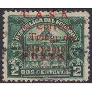 Ecuador 315a 1934 - 1936 Casa Correos Guayaquil usado variedad sobrecarga