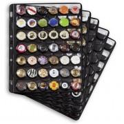 Hojas de plástico COMPART, para 42 placas de cava / tapas coronas, negro