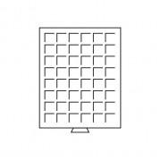 Bandeja para monedas 48 divisiones esquinadas hasta 30 mm Ø, gris