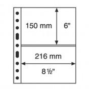 Leuchtturm hojas de plástico GRANDE, con 2 Bandas horizontales, transparentes billetes