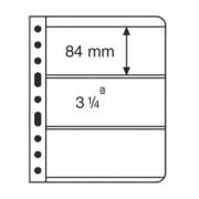 Leuchtturm hojas de plástico VARIO, 3 divisiones, transparente billetes