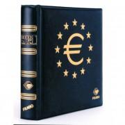 Filabo Álbum NUMIS billetes Euro Skay Azul con Cajetín