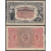 Billete Colonial Cuba 200 Pesos 1891 Nº 00916
