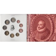 España Spain 2016 Cartera Oficial Euros Cent Cervantes + moneda 2€ Acueducto de Segovia  FNMT
