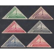 Ecuador 345/50 1936 Exposición  filatélica en Quito MH Sombras