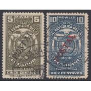 Ecuador 351/52 1937 Fiscales Usados