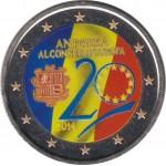 Andorra 2 euros € conmemorativos 2014 Consejo de Europa Color