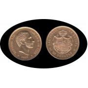 España Spain 25 ptas 1885 MS M  Alfonso XII oro Gold Au