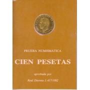 España Spain Cartera Oficial  1982 Moneda 100 pesetas Juan Carlos I