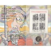 España Spain 2005 Cartera Oficial Moneda 2€ euros  Quijote Cervantes + HB FNMT