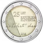 Eslovenia 2016 Moneda 2 € euros conmemorativos 25 Av. Independencia