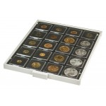 LINDNER 2122C COIN BOX CARBO WITH 20 SQUARE COMPARTMENTS