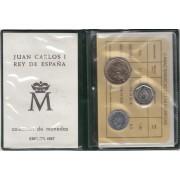 España Spain Cartera Oficial Pesetas 1987 Juan Carlos  I FNMT