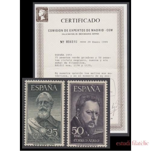 España Spain 1124/25 1953 Legazpi y Sorolla MNH